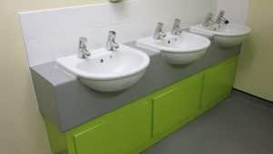 School Washroom Vanity Units
